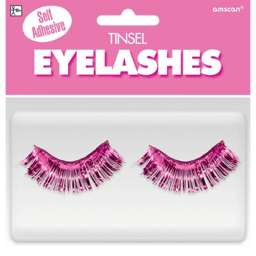 Amscan Tinsel Eyelashes, Party Accessory, Pink]()