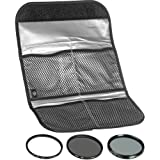 Hoya 52mm (HMC UV / Circular Polarizer / ND8) 3 Digital Filter Set with Pouch