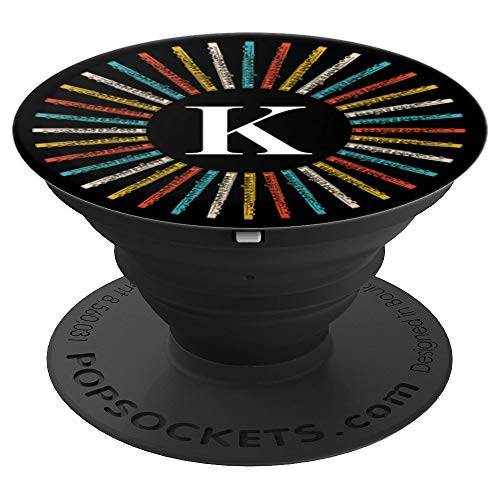 Initial Letter K, Flute Player, Pep and Marching Band - PopSockets Grip and Stand for Phones and Tablets