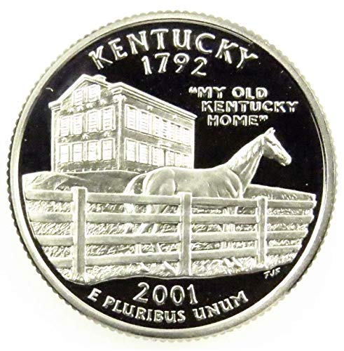 2001 S Kentucky State Clad Proof Quarter PF1 US Mint