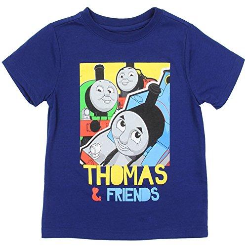 Thomas & Friends Little Boys Toddler T Shirt (Navy, 4T)