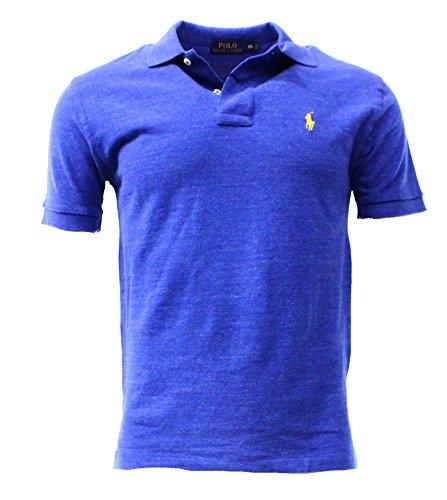 Polo Ralph Lauren Mens Classic Fit Polo Shirt (L, Sapphire Heather)