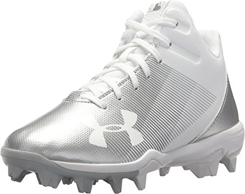 Under Armour Boys' Leadoff Mid RM Jr, White/White, 9K M US Toddler