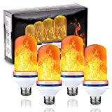 VERTAK LED Flame Light Bulb 4 Modes Flickering Fire Effect Light E26 Base for Holiday,Home, Party, Restaurant, Outdoor Decoration