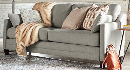 Serta Carmina Sofa, Chenille Fabric, Gray