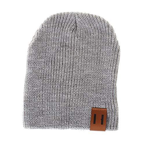 Price comparison product image JPOQW Mom&Me Woolen Knit Hat Solid Color Knited Headgear Beanie Cap Parent-Child Cap
