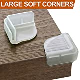 BABYMATEE 8 PCS Table Corner Protectors for Baby – DLC Dual Layer Buffer Structure Table Corner Guards – Child Proof Furniture Corner Safety Bumpers – Large Flat Corner Covers Desk Corner Protection