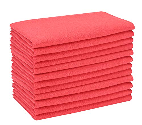 Everyday 100% Cotton Dinner Napkins 18x18 Coral (Napkins Coral Polyester)