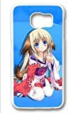 Samsung Galaxy S6 Case,White,Shock Absorbing,Premium Slim PC Material Perfectly Fitting The Case For Samsung Galaxy S6_Cute Little Busters Cartoon 3