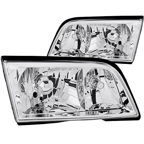 Anzo USA 121081 Mercedes-Benz Crystal Chrome Headlight Assembly - (Sold in Pairs) ()