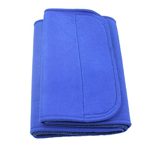 Yosoo Burn Fat Body Shape Sauna Sweat Weight Loss Adjustable Waist Trimmer Belt Waist Slimmer Lower Back & Lumbar Supports Waist Slimming Exercise Belt , One Size, Blue (1 x Back support)