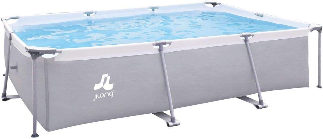JILONG XL - Piscina Familiar de Acero, 3 x 2 m, Color Gris: Amazon ...