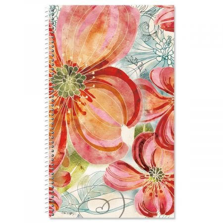 Floral Daydream Lifetime Password PIN Keeper- 100 Page Soft Cover Spiral Password Organizer ()