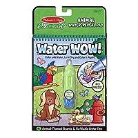 Libro para colorear y pintar con agua de Melissa y Doug, (Water Wow Animal - On the Go Travel Activity)