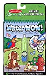 Melissa & Doug Water Coloring & Painting Book,  (Water Wow Animal - On the Go Travel Activity)