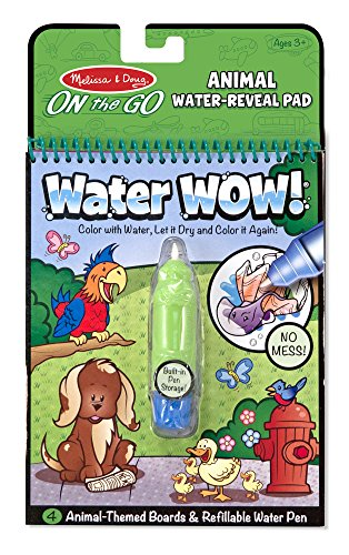 Melissa & Doug Water Coloring & Painting Book,  (Water Wow Animal - On the Go Travel Activity) -