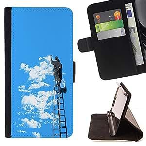 Jordan Colourful Shop - FOR Samsung Galaxy S5 V SM-G900 - If one day - Leather Case Absorci¨®n cubierta de la caja de alto impacto
