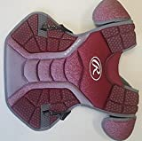 Rawlings CPVEL Cardinal / Gray Velo Adult Chest Protector 17'' Ages 16 & Up