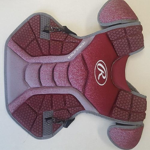 Rawlings CPVEL Cardinal / Gray Velo Adult Chest Protector 17'' Ages 16 & Up by Rawlings