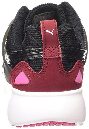 Puma Aril Basic Sports Wns - Zapatillas Mujer Negro (black-cabernet-carmine 06)