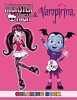 Vampirina Coloring Book: Coloring Book for Kids and Adults, Activity Book  with Fun, Easy, and Relaxing Coloring Pages by Ivazewa, Alexa - Amazon.ae | 400x309