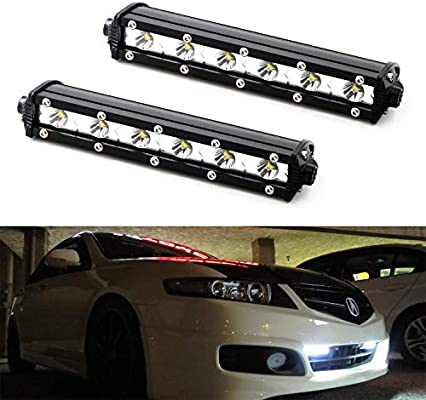 LED Daytime Lights For 2017-up Subaru BRZ Gen.2 Smoke Lens White LED Bumper DRL