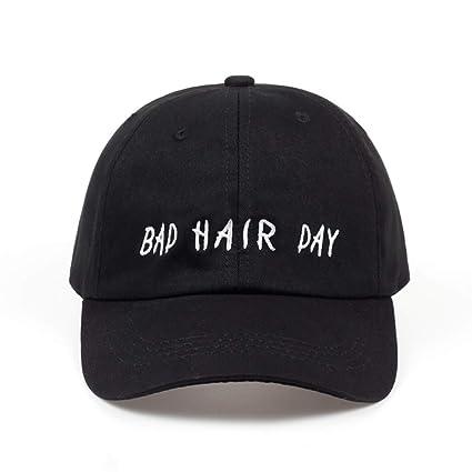 TTXSKX Gorras De Béisbol De Algodón Bad Hair Day Gorras Negras del Snapback Hombres Sombreros Papá