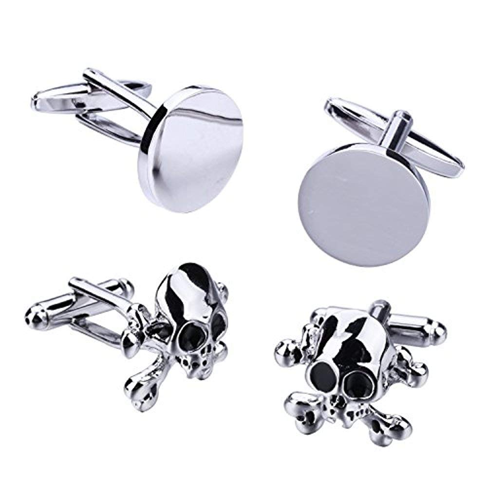 BodyJ4You 4PC Cufflinks Button Mens Shirt Classic Modern Design Business Jewelry Gift Set FJ9906