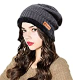 winter camping supplies - ELLEWIN Unisex Winter Slouchy Beanie Thick Knit Skull Cap Warm Fleece Lining For Men and Women