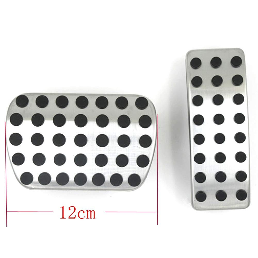 ZHOUMOTB Stainless Steel Car Pedal Pads Cover,for Mercedes Benz A B CLA GLA GLE ML GL R W164 W166 X156 X164 X166 2012 2015