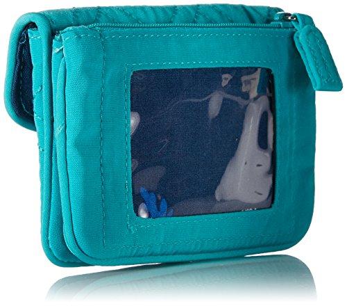 papiers Femme Turquoise fermeture d'identité Étui Vera éclair Bradley21562 à Sea pour Jen w0zO4zq