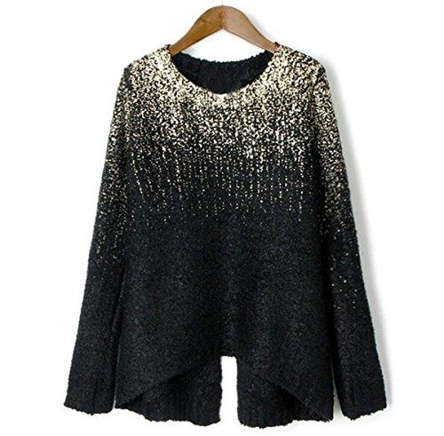 Womens Casual Long Sleeve Knitwear Jumper Cardigan Sweater Pullover - 4