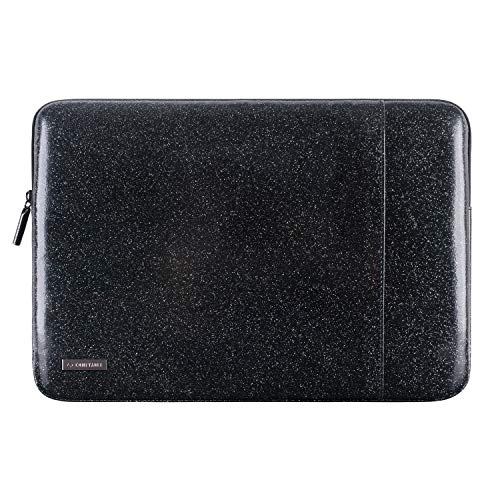 Comfyable Laptop Sleeve for 15 Inch New MacBook Pro 2016-2018 with Pocket- Waterproof & Soft Cover Case- Black - Black Case Carrying Soft Leather