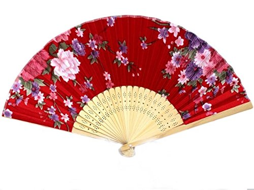 red chinese fan - 9