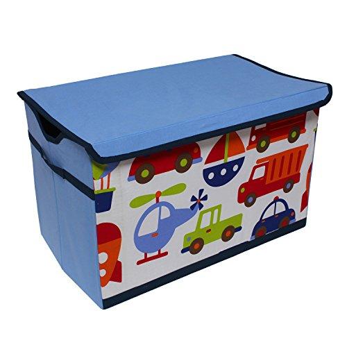 Bacati-Transportation-Storage-Toy-Chest-Blue
