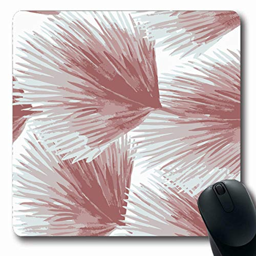 (LifeCO Mouse Pad Petals Blue Aloha Abstract Watercolor Palm Leaves Green Allover Parks Aquarelle Botanic Oblong Shape 7.9 x 9.5 Inches Mousepad for Notebook Computer Mat Non-Slip Rubber)