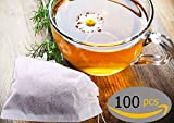 MY HOUSE & CAMPING Tea Filter Bags 3.2in x 4.2in x ( 100pieces) . Safe and natural material, Disposable tea infuser. You will have the perfect cup of tea for relaxation.