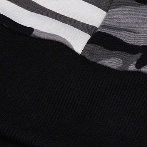 LHWY Veste Automne Jacket Street Camouflage Gris Veste Hiver Femmes aawFxqr
