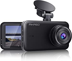 AKASO C320 Dash Cam 1080P FHD 3 Inches IPS Screen, DVR Car Dash Camera Recorder with 170 Degrees Wide Angle, Built in Loop Recording, Parking Monitor, G-Sensor, WDR, Night Vision