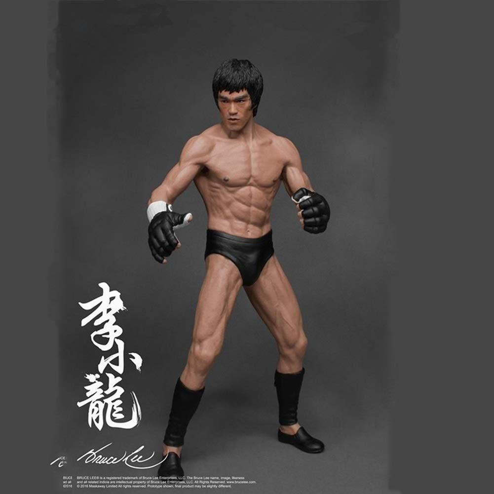 LULUDP Dragon Ball Modello Anime Bruce Lee Cinese Kung Fu Statua di Bruce Lee 1//12 Personaggio in Scatola Personaggi mobili con Decorazioni//Regalo di Compleanno 19 cm