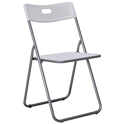Folding Chair Folding Stool Folding Portable Outdoor Fishing Chair Small Bench Home Small Stool JINRONG Color : Silver Furniture