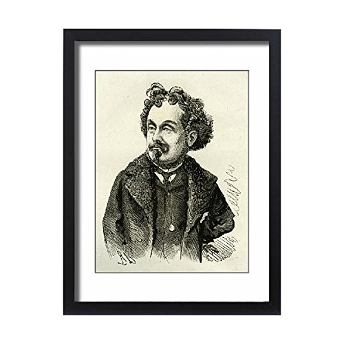 Framed 24x18 Print of Cartoon, Hamilton Aide, writer, artist and composer (14400960) (Charles Wool Coat)