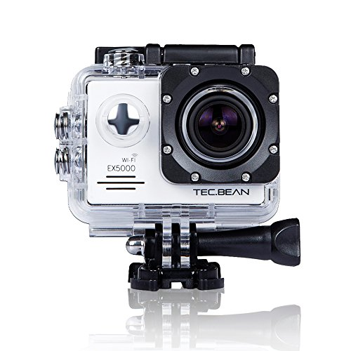 TEC.BEAN EX5000 2.0inch 14MP WIFI Waterproof Action Camera Kit with Accessories (17 Items) - White by TEC.BEAN
