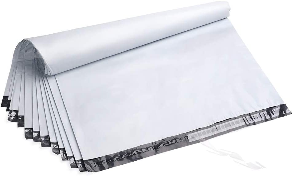 Fu Global 24X24 Inches White Poly Mailers Envelopes Shipping Bags Self Adhesive Waterproof Postal Bags (50pc)