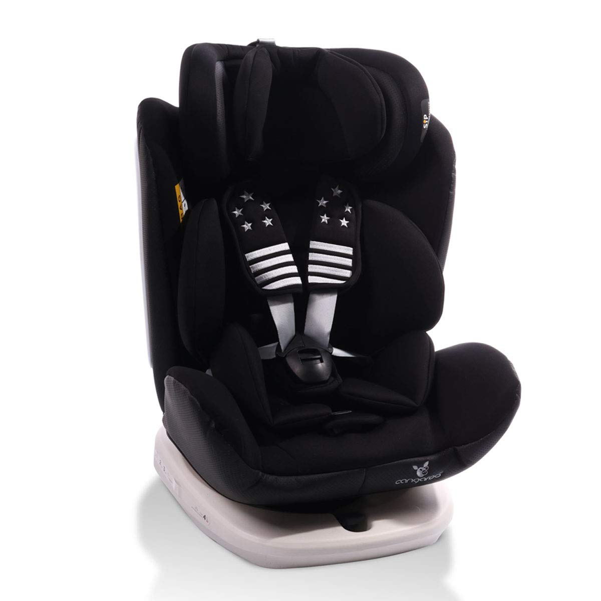 Cangaroo Kindersitz Pilot 0-36 kg Gruppe 0+/1/2/3, Isofix, drehbar, 165° Neigung schwarz