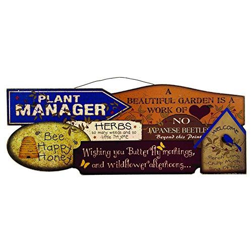 Vineyard Flora Springs - Garden Wallpaper Sign