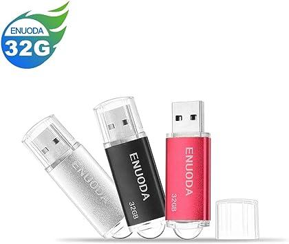 5 Pack 32GB USB 2.0 Flash Drive ENUODA 32 gb Thumb Drive Memory Stick Jump Drive