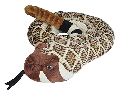 (Wild Republic Snakes, Super Jumbo Western Diamondback Snake Plush, Giant Stuffed Animal, Plush Toy, Gifts for Kids, 113 inches)