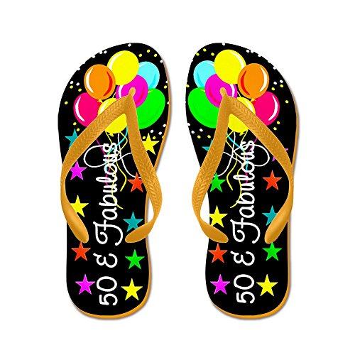 CafePress Enchanting 50TH - Flip Flops, Funny Thong Sandals, Beach Sandals Orange