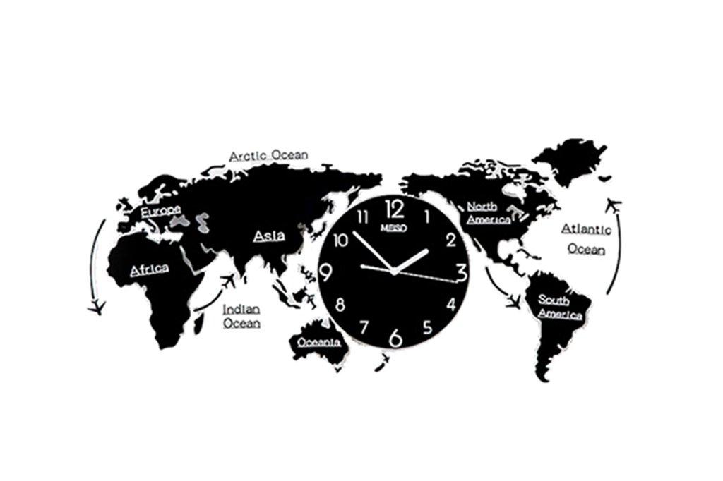 デコレーションウォールクロック、ホーム 世界地図モデリングウォッチ、リビングルームベッドルームレストランバーコーヒーショップ、クリエイティブウォールクロックラージ、(74-120CM) (色 : A-120*55CM) B07F3SBQDL A-120*55CM A-120*55CM